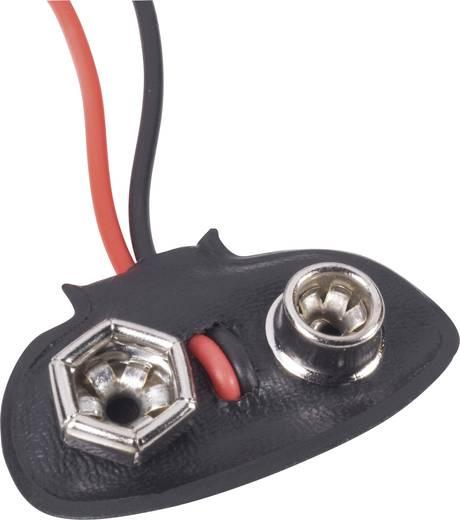 Beltrona 9V-T-Clip Batterijclip 1 9V (blok) Drukknopaansluiting (l x b x h) 26 x 13 x 8 mm