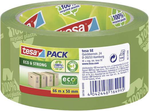 tesa Pakband Groen (l x b) 66 m x 50 mm Inhoud: 1 rollen