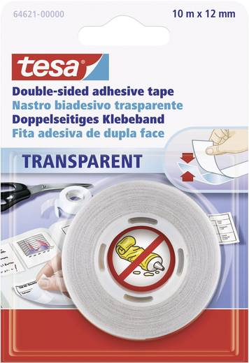 tesa tesa Dubbelzijdige tape Transparant (l x b) 10 m x 12 mm Inhoud: 1 rollen