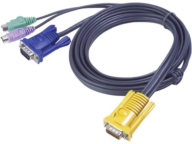 KVM Aansluitkabel ATEN [1x SPHD 15 stekker 2x PS 2 stekker VGA stekker] 1.8 m