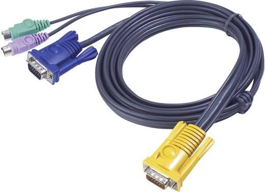 ATEN KVM Aansluitkabel [1x SPHD-15-stekker - 2x PS/2 stekker, VGA stekker] 1.80 m Zwart