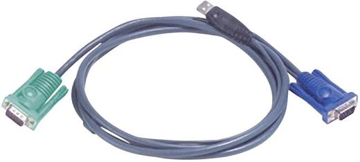 KVM Kabel ATEN [1x SPHD-15-stekker - 1x VGA stekker, USB 2.0 stekker A] 3 m Zwart