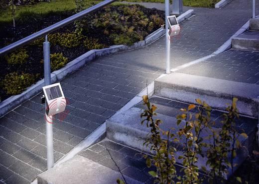Esotec Flexi Light 102420 Solar wandlamp met bewegingsmelder Koud-wit Zilver