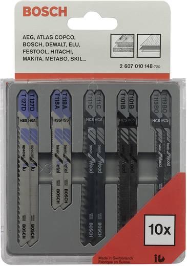 10tlg. Decoupeerzaagblad set hout en metaal Bosch 2607010148 1 set