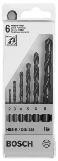 Bosch Accessories Metaalborenset HSS-R, DIN 338, 6-delig, 2, 3, 4, 5, 6, 8 mm