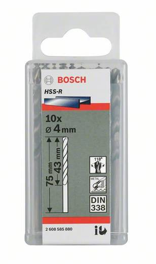 Bosch 2607018426 HSS Metaal-spiraalboor 6.4 mm Gezamenlijke lengte 101 mm rollenwals DIN 338 Cilinderschacht 10 stuks