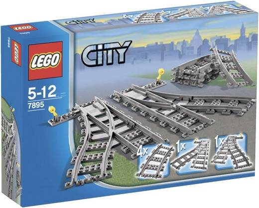 LEGO® CITY 7895 Wissels (voor IR treinsets)