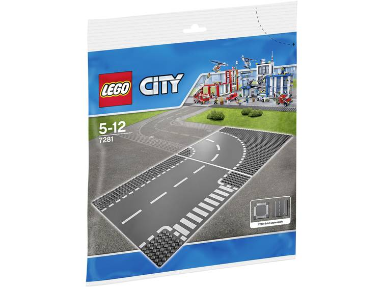LEGO City T-kruising-Bocht 7281