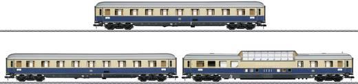 Spoor 1 3 sneltreinrijtuigen Rheingold van de DB