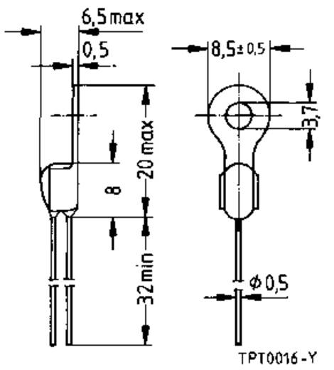 PTC-thermistor 100 Ω Epcos KALTLEITER, TEMPERATURFÜHLER, MSR-TECHNI 1 stuks