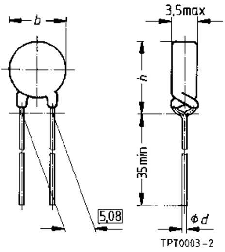 PTC-thermistor 0.8 Ω Epcos KALTLEITER, ÜBERLASTSCHUTZ, C 955-A120-A 1 stuks