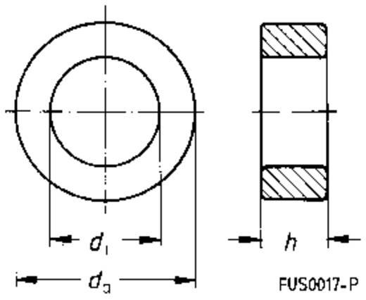 Ferrietkern, ring Bedekt Kabel-Ø (max.) 14.8 mm (Ø) 26.8 mm (buiten) Epcos RINGKERN, BESCHICHTET, 25,3X14,8X10 T35 1 st