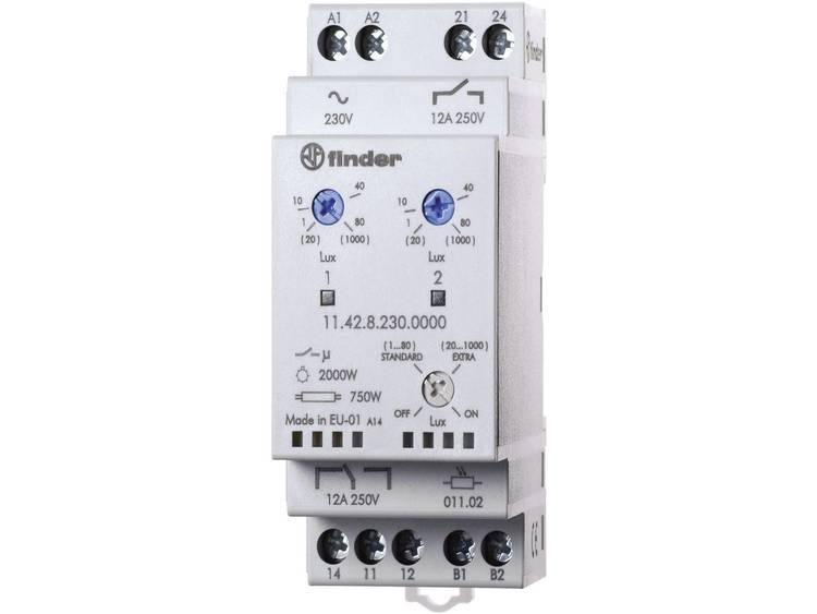 Schemerschakelaar Finder 11.42.8.230.0000 1 80-20 1000 lx 230 V-50 60 Hz 1 wisselaar-1 sluiter (AC1,