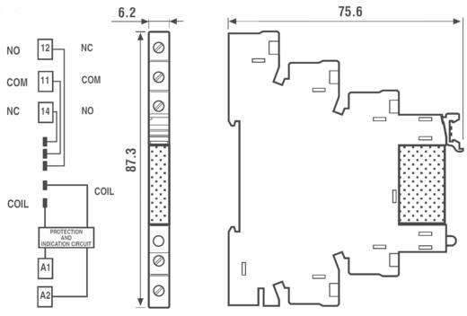 Finder 38.51.0.024.0060 Relaismodule 1 stuks Nominale spanning: 24 V/DC, 24 V/AC Schakelstroom (max.): 6 A 1x wisselaar