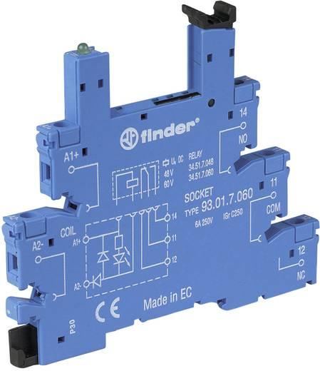 Finder 93.01.3.240 Relaissocket met houderbeugel, met LED, met EMV-ontstoringsschakeling 1 stuks Finder serie 34