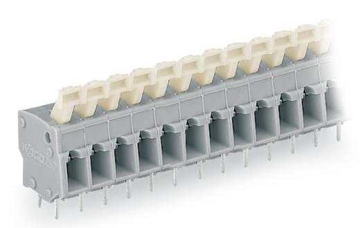 Veerkachtklemblok 2.50 mm² Aantal polen 4 257-454 WAGO Grijs 220 stuks