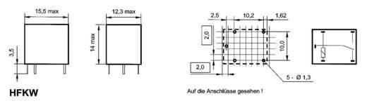 Auto-relais 12 V/DC 10 A 1x wisselaar Hongfa HFKW/012-1Z W