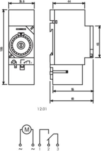 Finder 12.01.8.230.0000 Schakelklok voor DIN-rails Voedingsspanning (num): 230 V/AC 1x wisselaar 16 A 250 V/AC