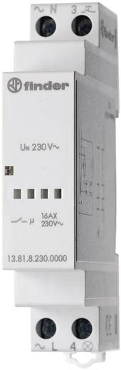 Impulsrelais Finder 13.81.8.230.0000 230 V~ 1 NO-contact (AC1) max. 3.700 VA / (AC15) max. 750 VA