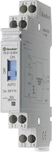 Finder 19.21.0.024 Industrierelais 1 stuks Nominale spanning: 24 V/DC, 24 V/AC Schakelstroom (max.): 10 A 1x wisselaar