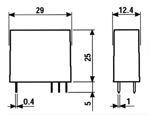 Finder 50.12.9.024.4000 Printrelais 24 V/DC 8 A 2x wisselaar 1 stuks