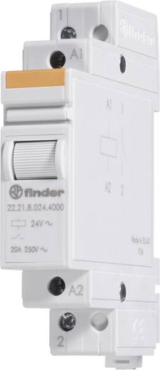 Finder 22.22.9.024.4000 Industrierelais 1 stuks Nominale spanning: 24 V/DC Schakelstroom (max.): 20 A 2x NO