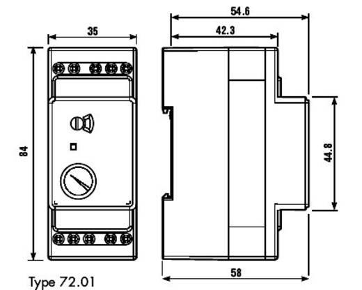 Bewakingsrelais 230 V/AC 1x wisselaar 1 stuks