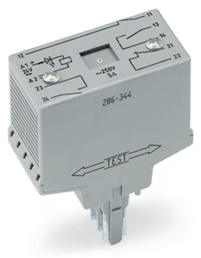 WAGO 286-344/004-000 Steekrelais 24 V/DC 2x NC, 3x NO 1 stuks