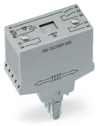 WAGO 286-352/004-000 Steekrelais 24 V/DC 4x NO 1 stuks