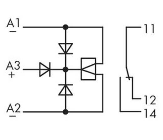 WAGO 286-381 Steekrelais 24 V/AC 6 A 1x wisselaar 1 stuks