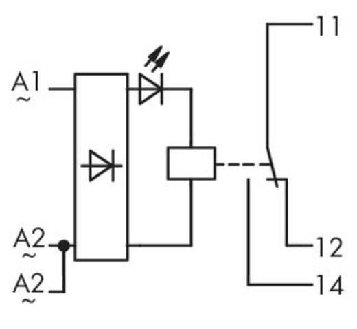 WAGO 286-508 Steekrelais 230 V/AC 7 A 1x wisselaar 1 stuks