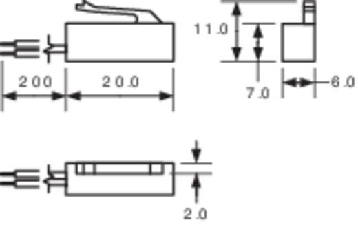 PIC MS-320-3 Reedcontact 1x NO 180 V/DC, 130 V/AC 0.7 A 10 W