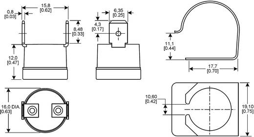 Honeywell 6655-97100901 Temperatuursensor serie 6655 -20 - 110 °C Soort behuizing Snelbevestigingsklem