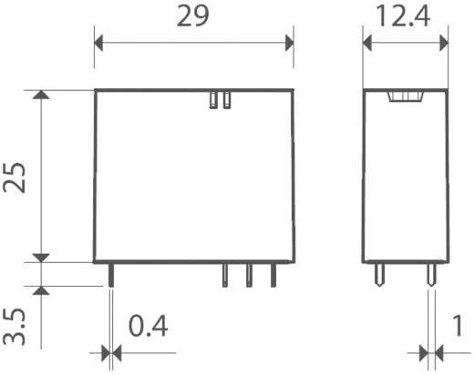 Finder 40.31.7.012.1020 Printrelais 12 V/DC 12 A 1x wisselaar 1 stuks