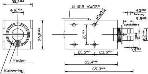 HMA-3027z.001-12VDC,100% Beugelmagneten 12 V/DC Uitvoering (algemeen) Trekkend