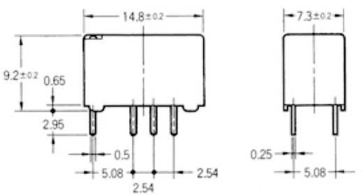 Omron G6S-2 24 VDC Printrelais 24 V/DC 2 A 2x wisselaar 1 stuks