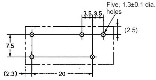 Omron Printrelais 48 V/DC 12 A 1x wisselaar 1 stuks