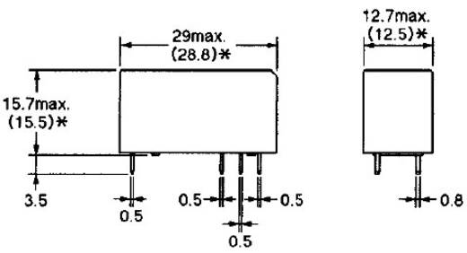 Omron G2RL-1 12V Printrelais 12 V/DC 12 A 1x wisselcontact 1 stuks
