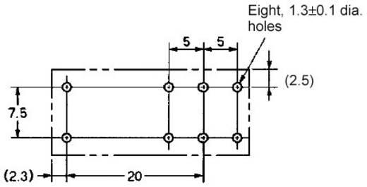 Omron G2RL-2 12V Printrelais 12 V/DC 8 A 2x wisselcontact 1 stuks