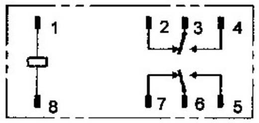 Omron Printrelais 12 V/DC 8 A 2x wisselaar 1 stuks