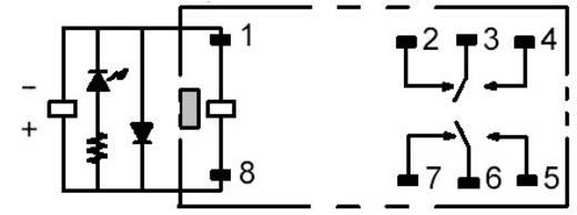 Omron G2R-2-SNDI 24 VDC Steekrelais 24 V/DC 5 A 2x wisselaar 1 stuks