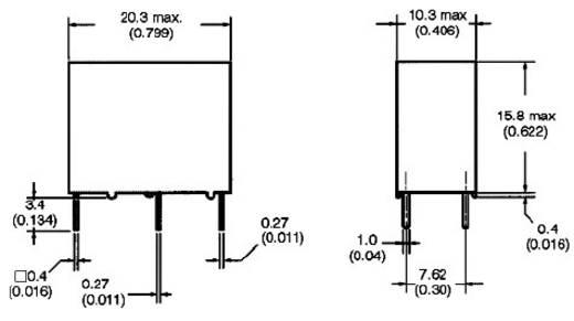 Omron G5Q-1A-EU 12DC Printrelais 12 V/DC 5 A 1x NO 1 stuks