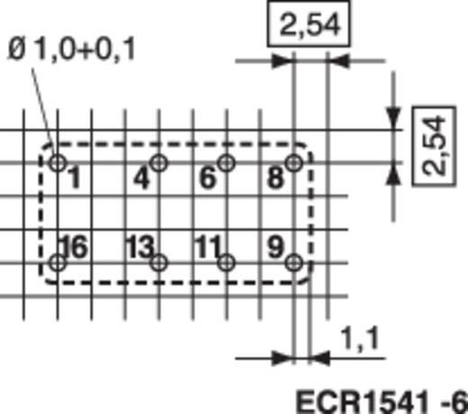 TE Connectivity Printrelais 6 V/DC 3 A 2x wisselaar 1 stuks
