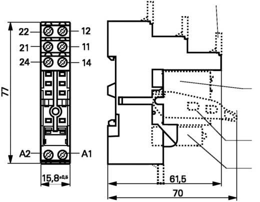 TE Connectivity RT78726 Relaissocket 1 stuks