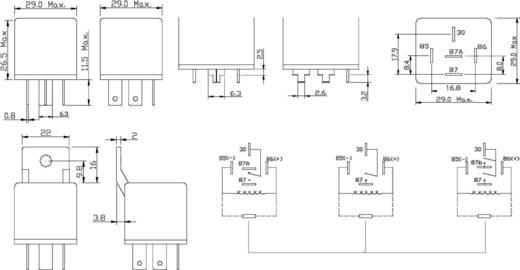 Auto-relais 12 V/DC 25 A 2x NO FiC FRC2U-1-DC12V
