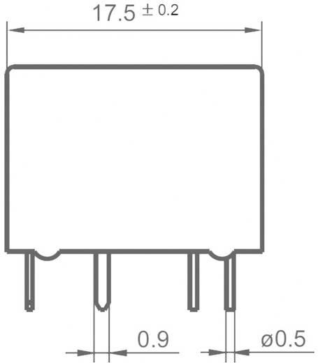 Auto-relais 12 V/DC 20 A 2x wisselaar Hongfa FRA11DC-S1-DC12V = HFKD/012-2ZST