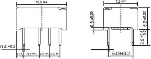 Fujitsu FTR-B3 CA 4,5 V Printrelais 4.5 V/DC 2 A 2x wisselaar 1 stuks