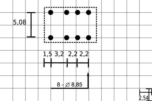 Fujitsu FTR-B3 CA 12V Printrelais 12 V/DC 2 A 2x wisselaar 1 stuks
