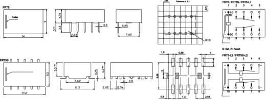FiC FRT5-DC05V Printrelais 5 V/DC 1 A 2x wisselaar 1 stuks
