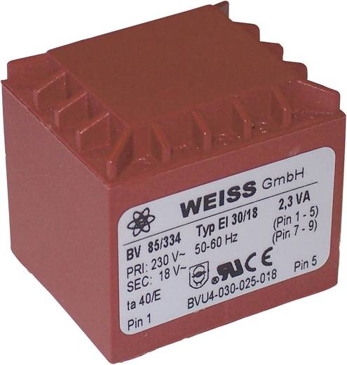 Printtransformator 2,3 VA Primair: Secundair: 2,3 VA 85/332 Weiss Elektrotechnik